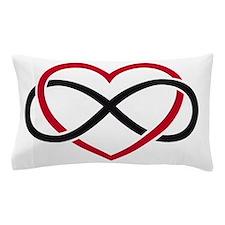 Infinity heart, never ending love Pillow Case