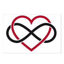 Infinity heart, never end Postcards (Package of 8)