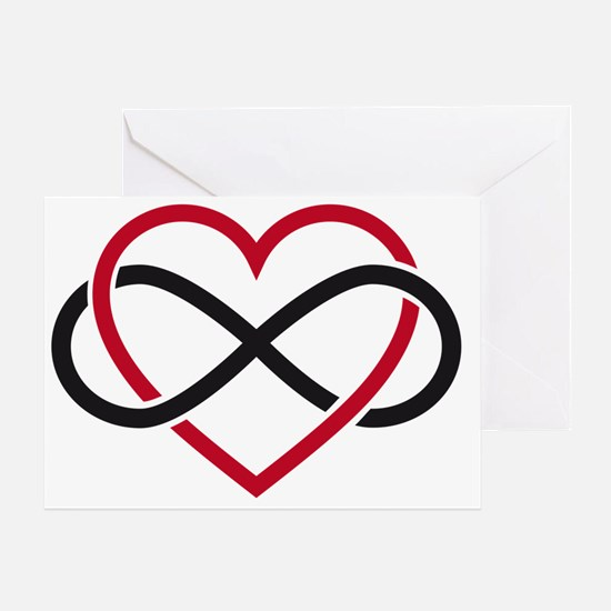 Infinity heart, never ending love Greeting Card