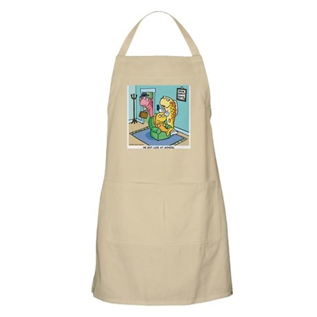 He got lice at School BBQ Apron
