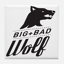 surlalune_logo_black_wolf Tile Coaster