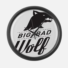 surlalune_logo_black_wolf Large Wall Clock