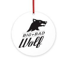 surlalune_logo_black_wolf Round Ornament
