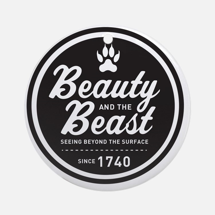 surlalune_logo_black_beast Round Ornament