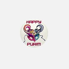 Purim Mask Mini Button