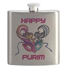 Purim Mask Flask