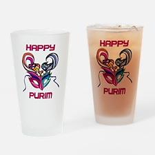 Purim Mask Drinking Glass