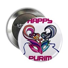 "Purim Mask 2.25"" Button"