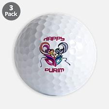 Purim Mask Golf Ball