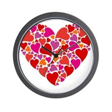 Heart with heart pattern Wall Clock
