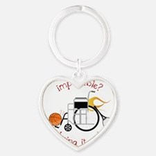 Bring It On Heart Keychain