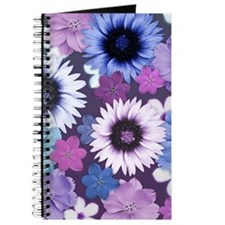 Pretty Floral Design - Blue Pink and Purpl Journal