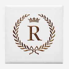 Napoleon initial letter R monogram Tile Coaster