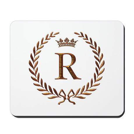 Napoleon initial letter R monogram Mousepad