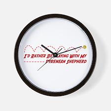Pyrenean Play Wall Clock