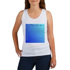 Blue Turquoise Women's Tank Top