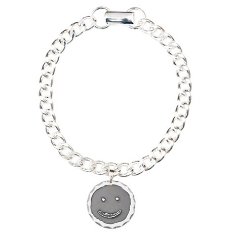 Grinning face cut from s Charm Bracelet, One Charm