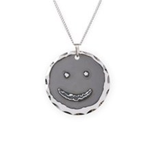 Grinning face cut from steel Necklace
