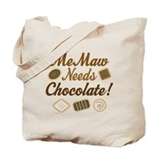MeMaw Chocolate Tote Bag