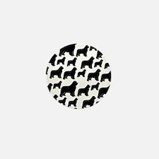 Newfoundland silhouettes Mini Button