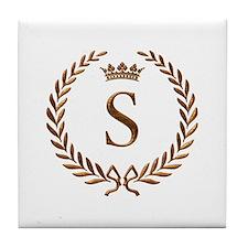 Napoleon initial letter S monogram Tile Coaster
