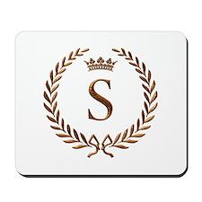 Napoleon initial letter S monogram Mousepad