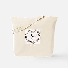 Napoleon initial letter S monogram Tote Bag