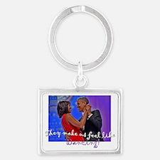 Dancing Obamas 2013 Landscape Keychain