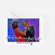 Dancing Obamas 2013 Greeting Card