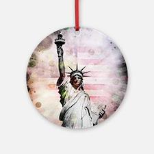 Statue of Liberty Round Ornament