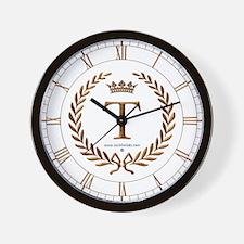 Napoleon initial letter T monogram Wall Clock