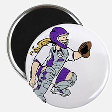 Purple2 No Place Like Home on Black Magnet