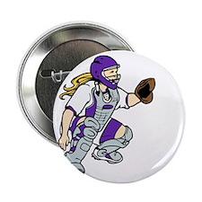 "Purple2 No Place Like Home on Black 2.25"" Button"
