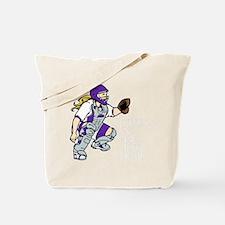 Purple2 No Place Like Home on Black Tote Bag