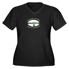 Chesapeake Arboretum Logo Women's Plus Size V-Neck