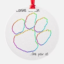Canine Cancer Paw Ornament