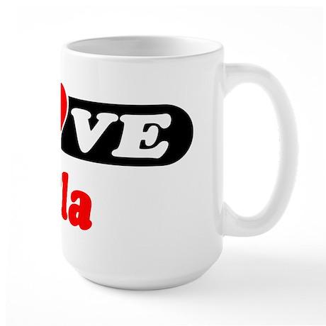 I Love Eula Large Mug