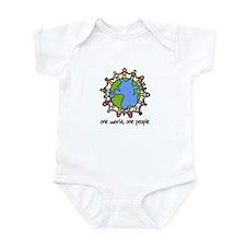 one world,one people Infant Bodysuit