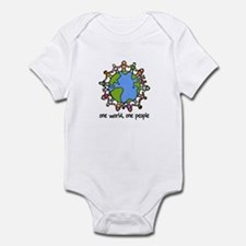 one world,one people Infant Bodysuit
