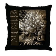 number our days Throw Pillow