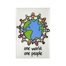 one world,one people Rectangle Magnet (10 pack)