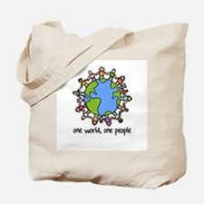 one world,one people Tote Bag