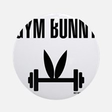 Gym Bunny Round Ornament