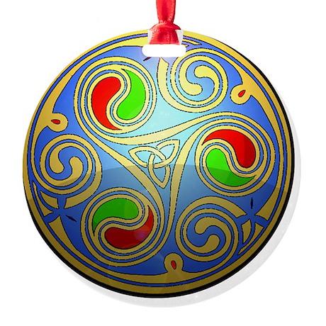 Celtic spiral Round Ornament