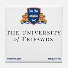 Tripawds University Tile Coaster