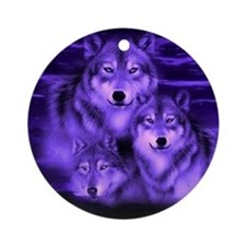 wolf pack Round Ornament