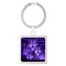 wolf pack Square Keychain