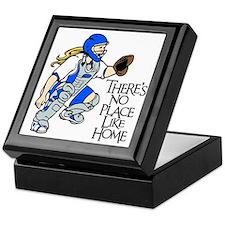 blue No Place Like Home Keepsake Box
