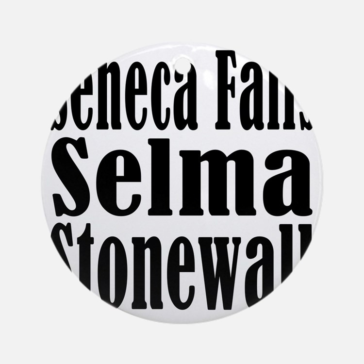 Seneca Falls Selma Stonewall Round Ornament