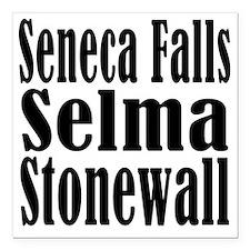 "Seneca Falls Selma Stone Square Car Magnet 3"" x 3"""